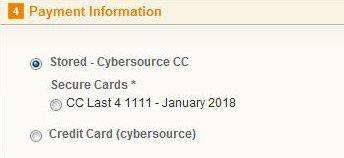 Cybersource Tokenization - Stored Credit Card